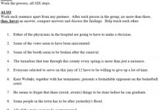 Subj/Verb Agreement Practice 1-10, part 1