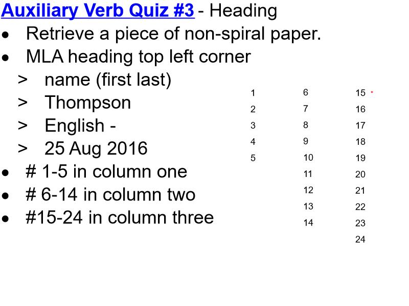 Quiz Layout
