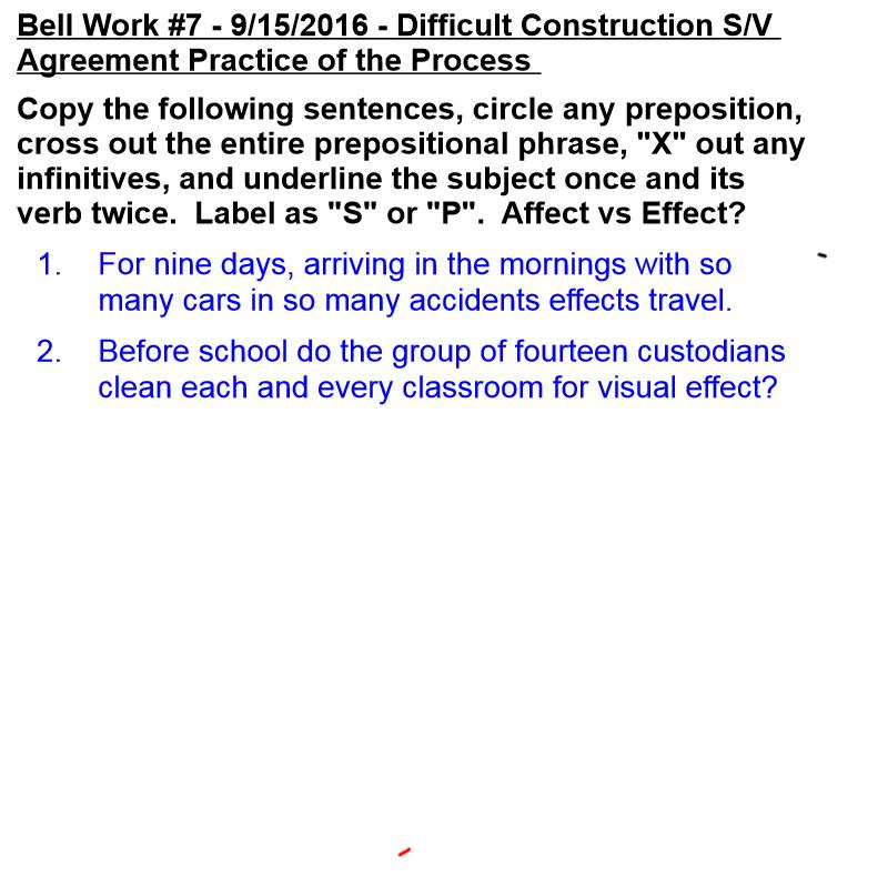 Bell Work #7