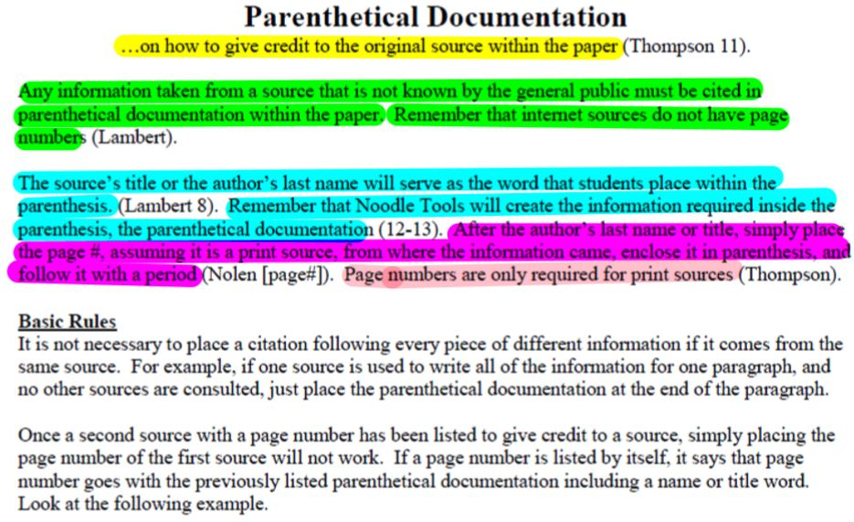 parenthetical documentation research papers Turabian parenthetical/reference of citing sources using kate turabian's a manual for writers of term papers source for research, writing and citation tips.