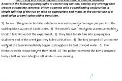 Run-on Practice #3 Paragraph #1