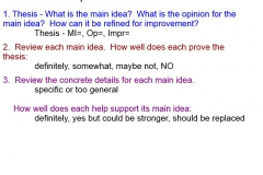 Annotation Directions for Peer Evaluation